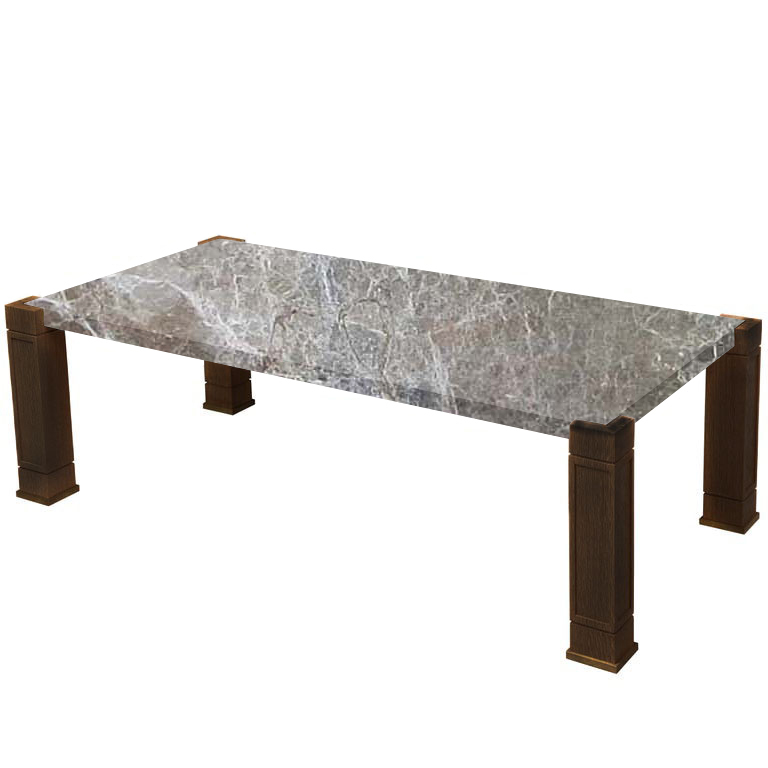 Faubourg Emperador Coffee Table with Walnut Legs