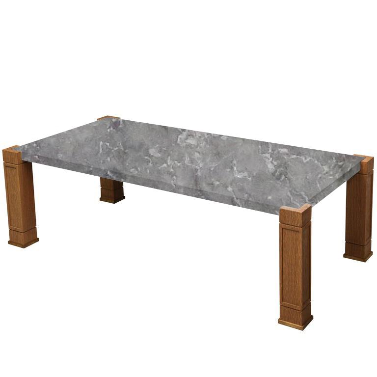 Faubourg Emperador Silver Inlay Coffee Table with Oak Legs