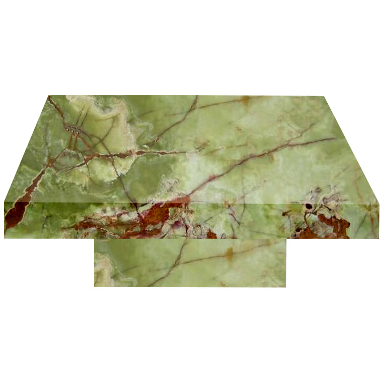 Green Square Solid Onyx Coffee Table