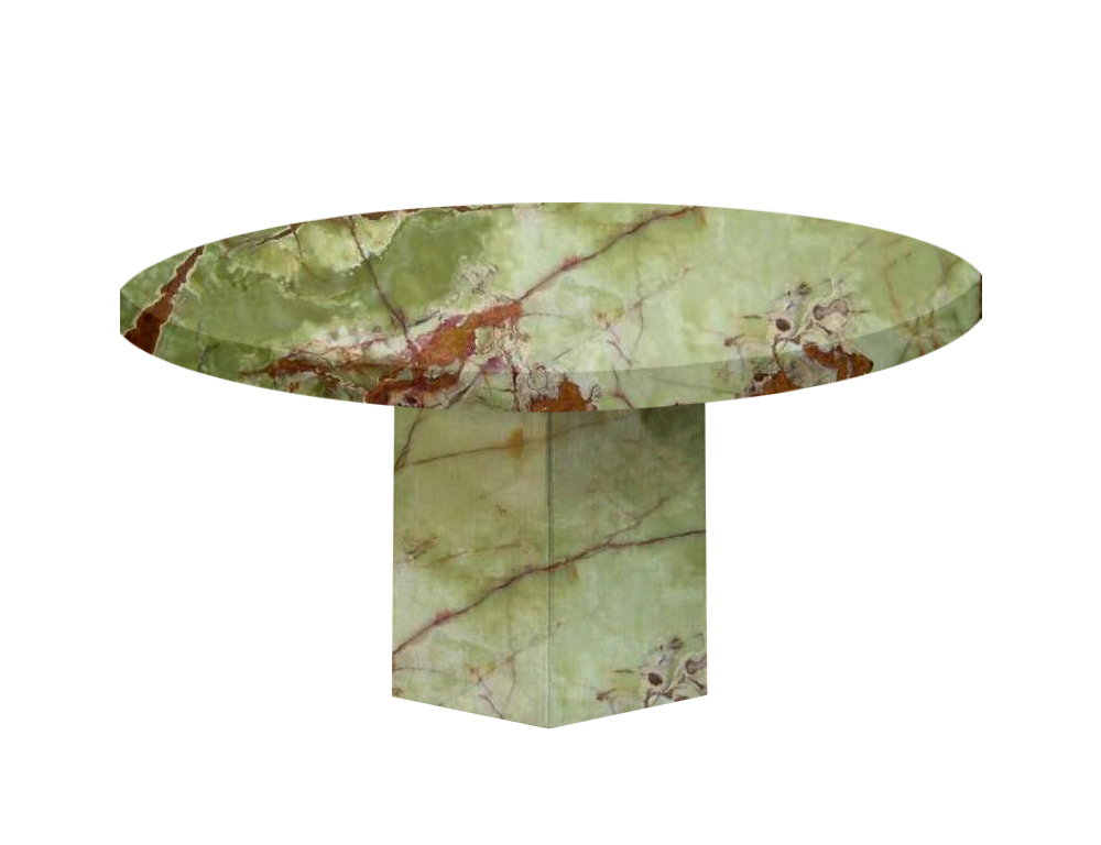 Green Santa Catalina Round Onyx Dining Table