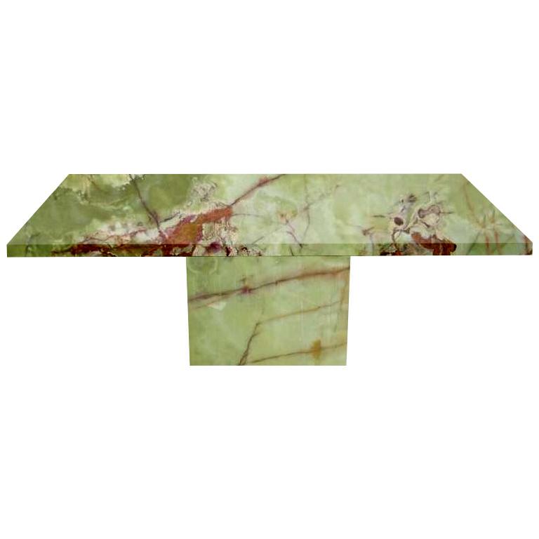 Green Torano Onyx Dining Table