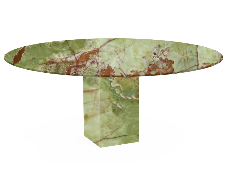Green Arena Oval Onyx Dining Table