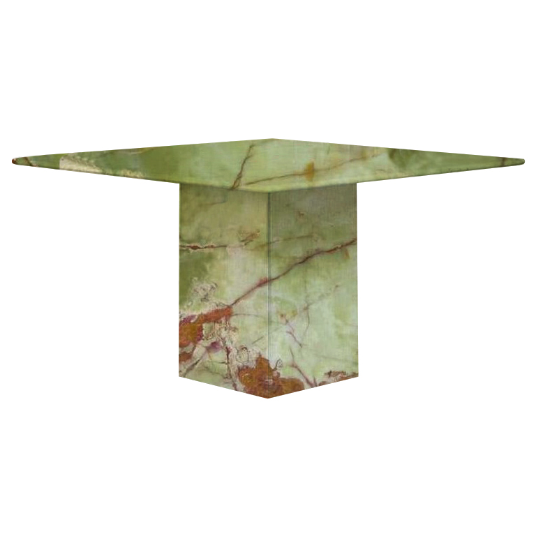 Green Small Square Onyx Dining Table