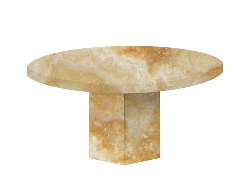 Honey Santa Catalina Round Onyx Dining Table