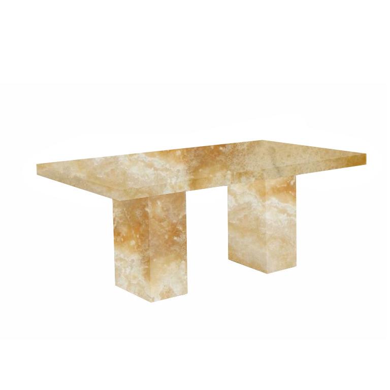 Honey Codena Onyx Dining Table