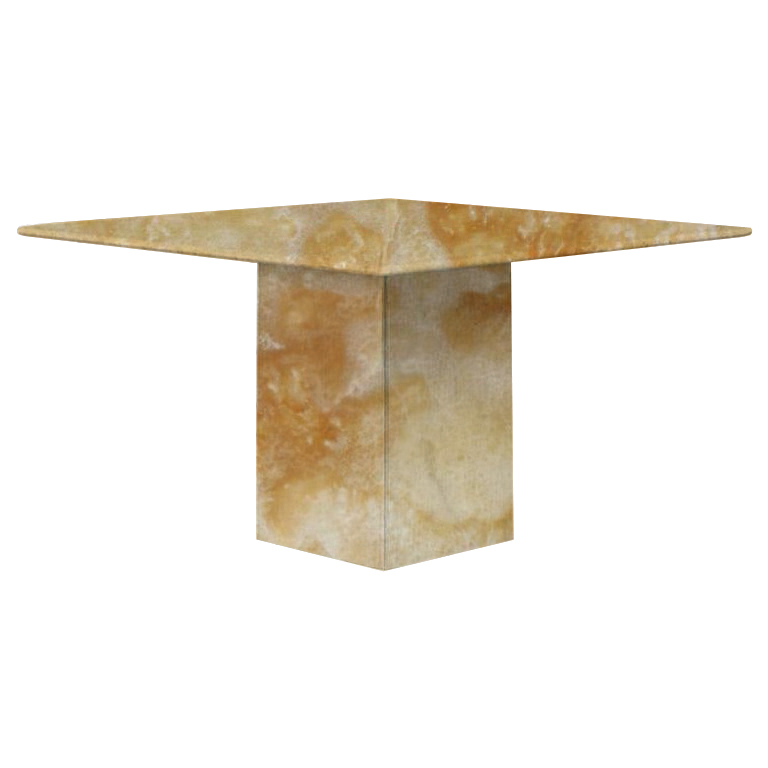 Honey Small Square Onyx Dining Table