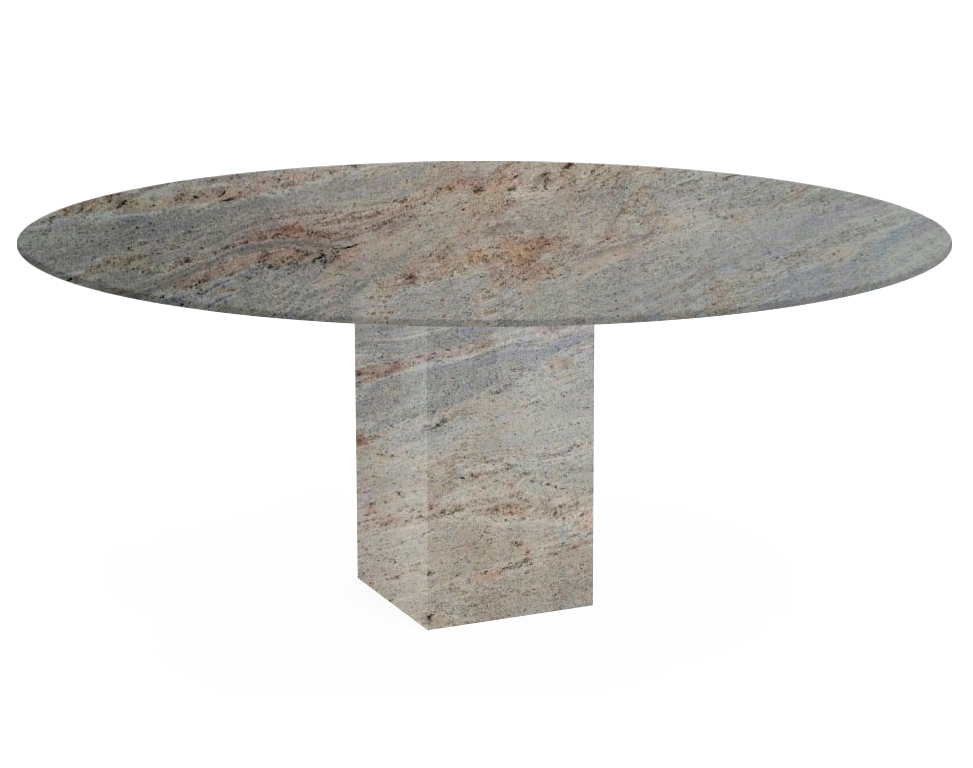 Ivory Fantasy Arena Oval Granite Dining Table