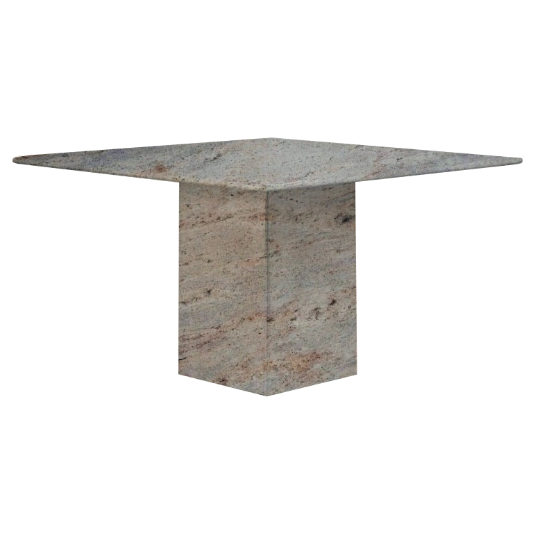 Ivory Fantasy Small Square Granite Dining Table