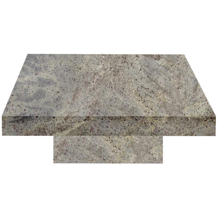 Kashmir White Square Solid Granite Coffee Table