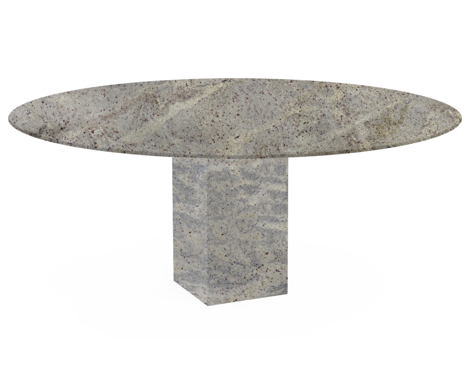 Kashmir White Arena Oval Granite Dining Table
