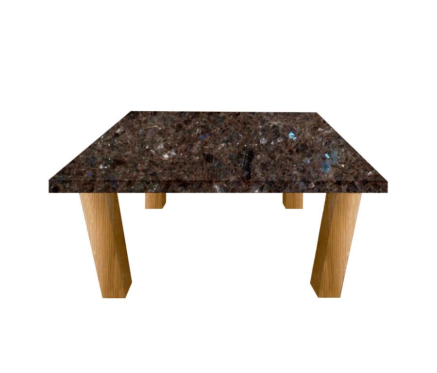 Labrador Antique Square Coffee Table with Square Oak Legs