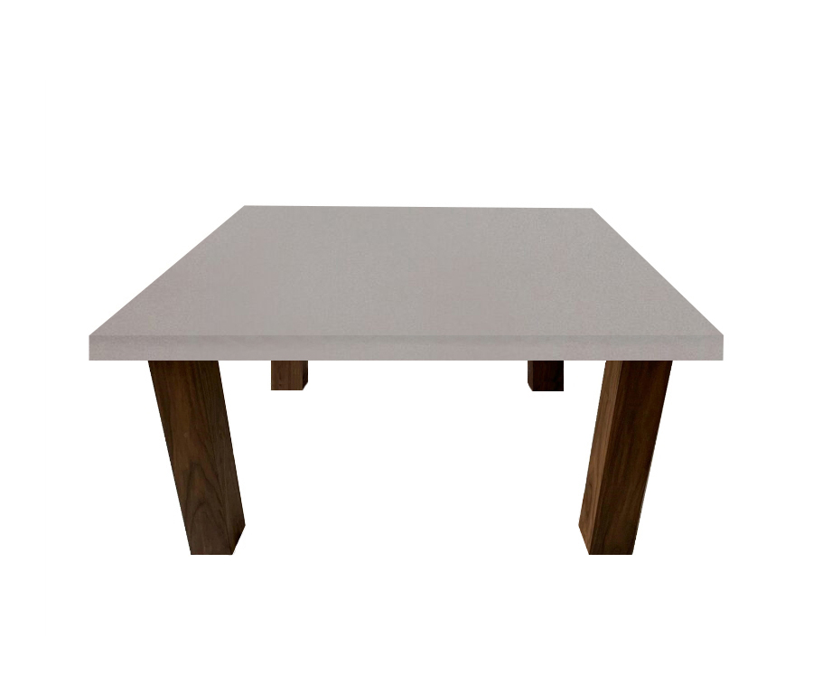 London Grey Square Coffee Table with Square Walnut Legs