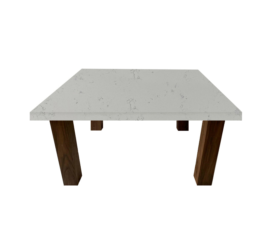 Massa Extra Square Coffee Table with Square Walnut Legs