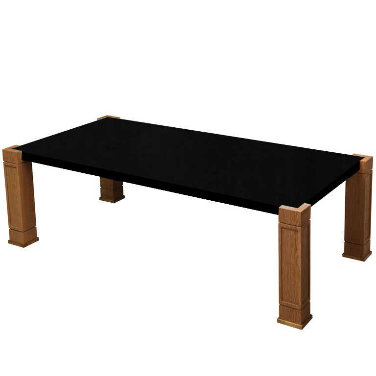 Faubourg Nero Assoluto Inlay Coffee Table with Oak Legs