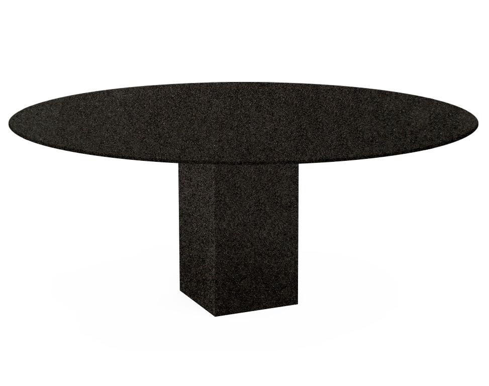 Nero Impala Arena Oval Granite Dining Table