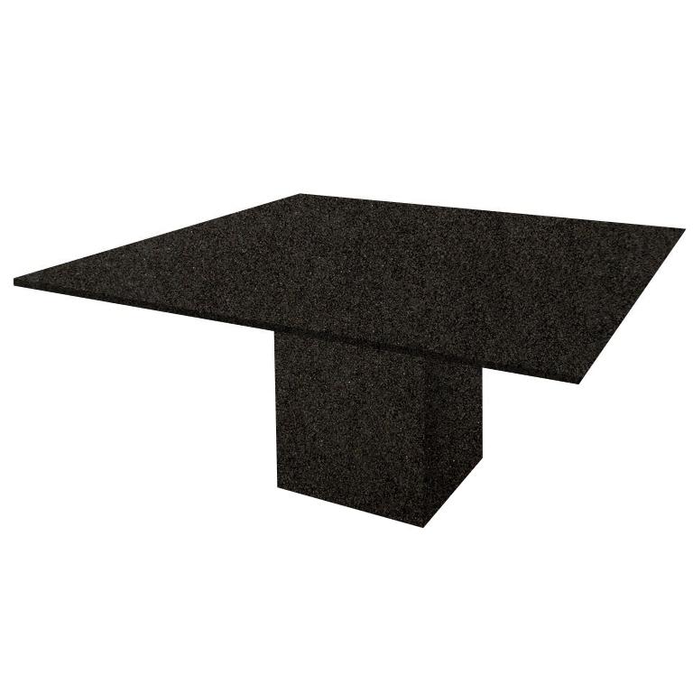 Nero Impala Bergiola Square Granite Dining Table
