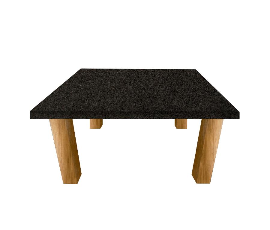 Nero Impala Square Coffee Table with Square Oak Legs