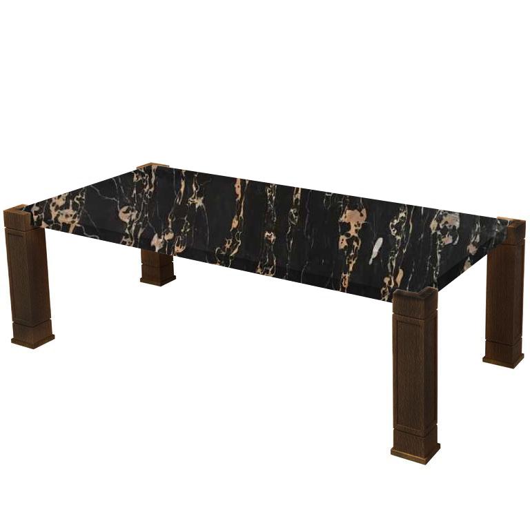 Faubourg Nero Portoro Extra Inlay Coffee Table with Walnut Legs