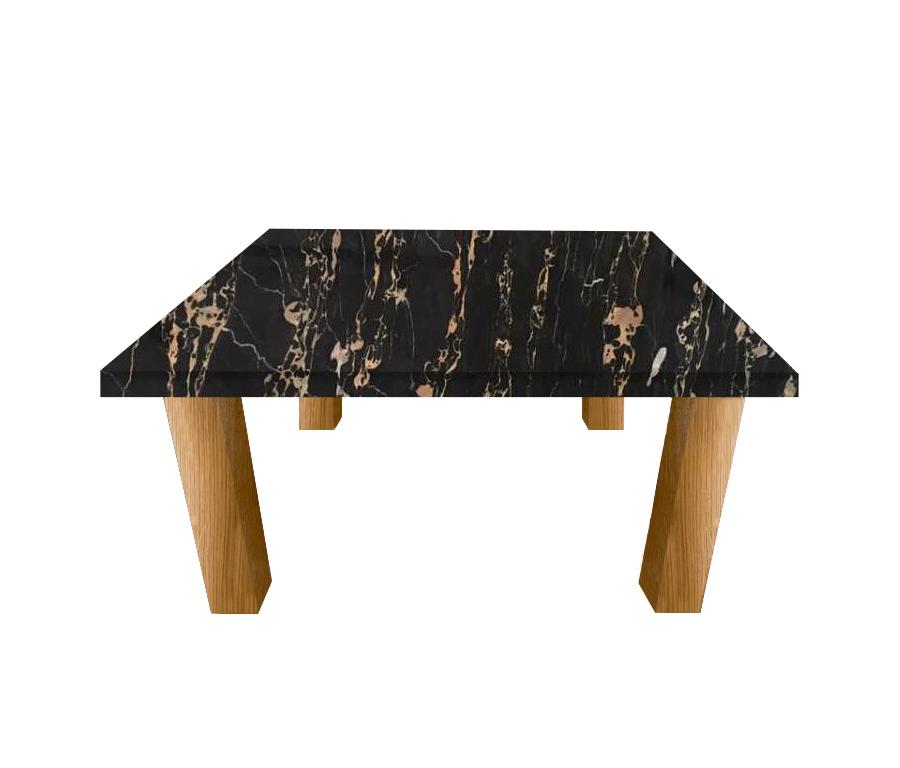 Nero Portoro Extra Square Coffee Table with Square Oak Legs