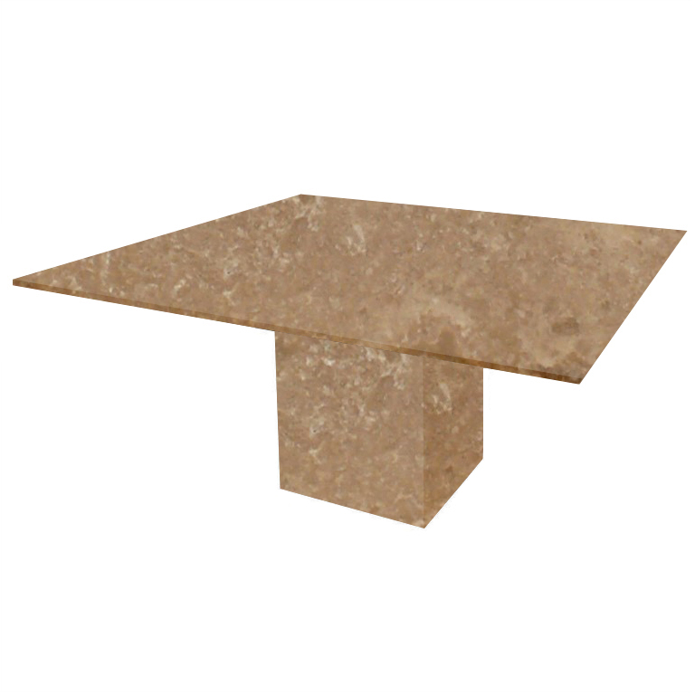 Noce Bergiola Square Travertine Dining Table