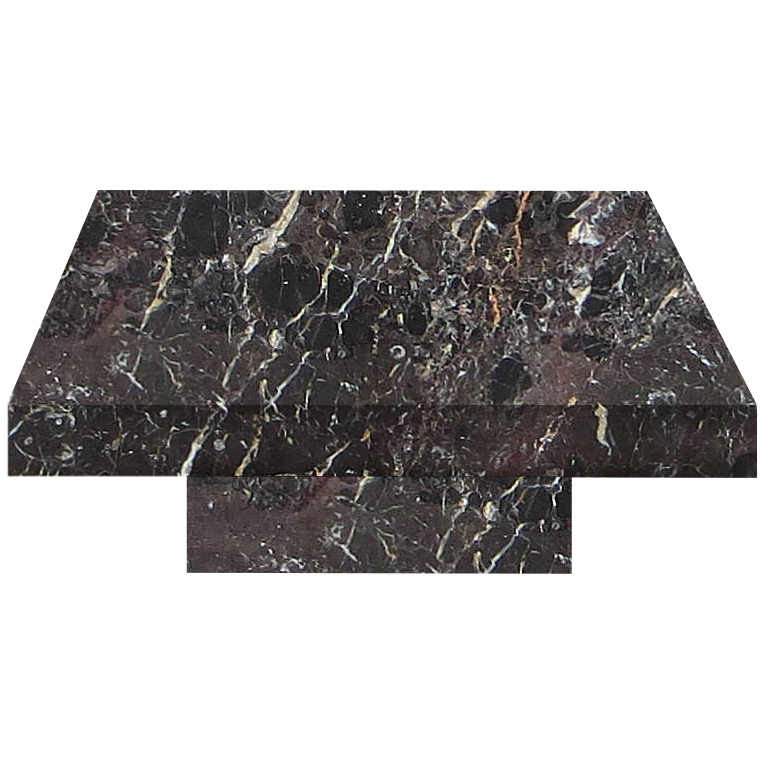Noir St. Laurent Square Solid Marble Coffee Table