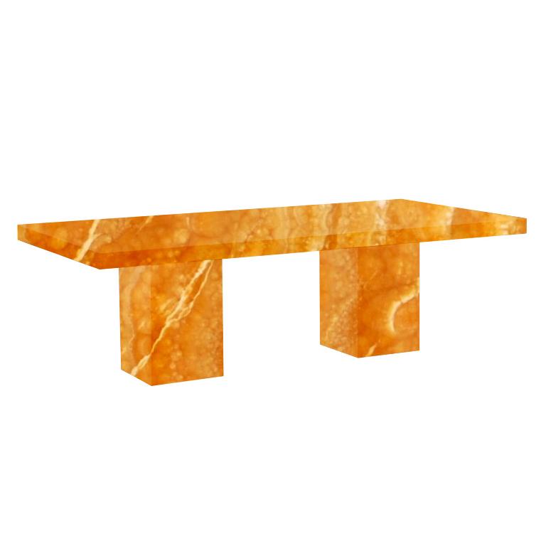 Orange Bedizzano 10 Seater Onyx Dining Table