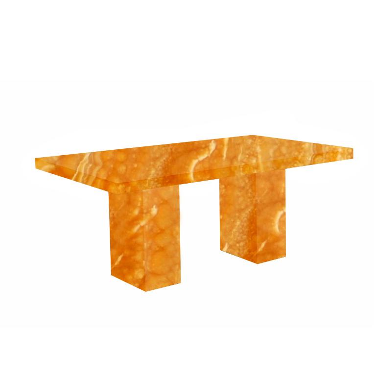 Orange Codena Onyx Dining Table