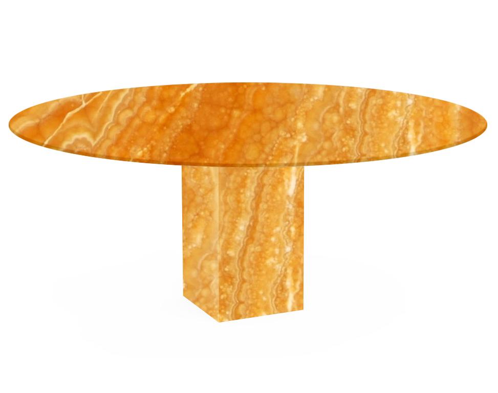 Orange Arena Oval Onyx Dining Table