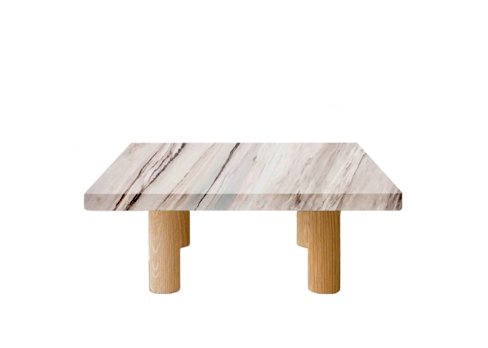 Palissandro Classico Square Coffee Table with Circular Oak Legs