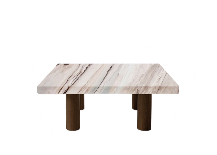 Palissandro Classico Square Coffee Table with Circular Walnut Legs