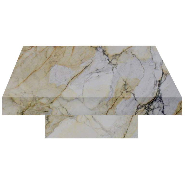 Paonazzo Square Solid Marble Coffee Table