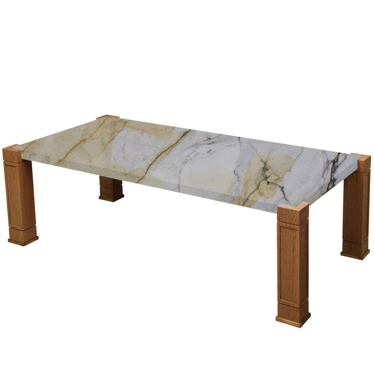 Faubourg Paonazzo Inlay Coffee Table with Oak Legs