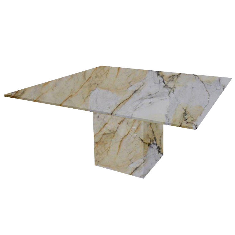 Paonazzo Bergiola Square Marble Dining Table