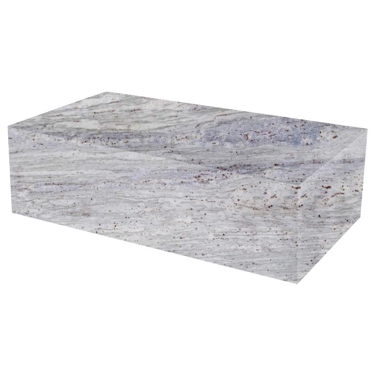 River White Rectangular Solid Granite Coffee Table