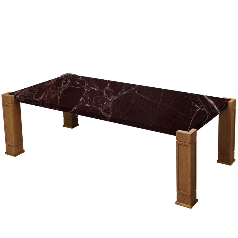 Faubourg Rosso Levanto Inlay Coffee Table with Oak Legs