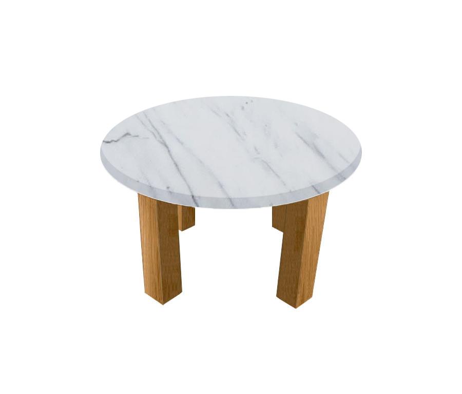 Statuarietto Extra Round Coffee Table with Square Oak Legs