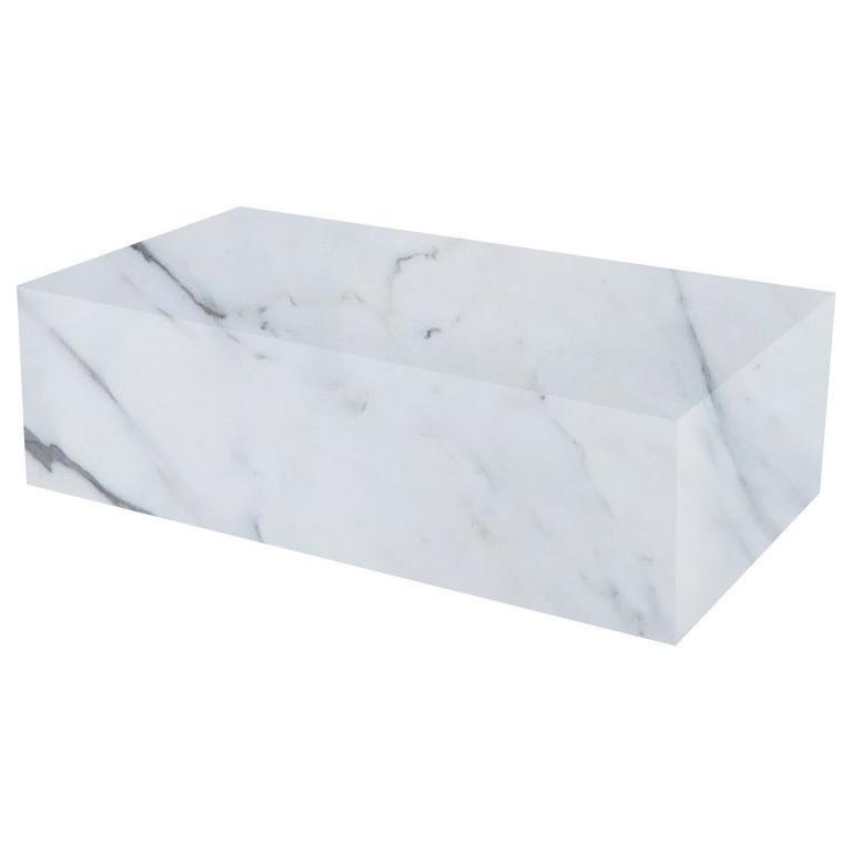 Statuario Extra Rectangular Solid Marble Coffee Table