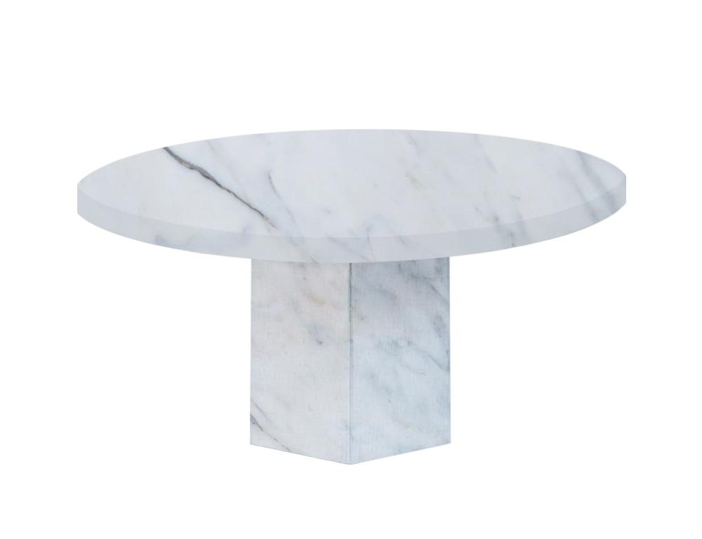 Statuario Extra Santa Catalina Round Marble Dining Table