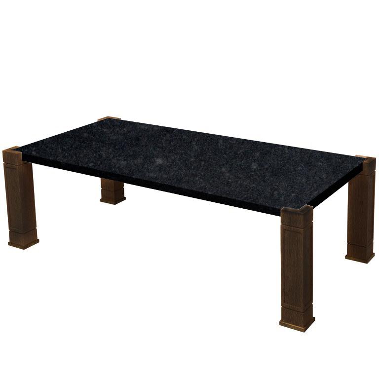 Faubourg Steel Grey Inlay Coffee Table with Walnut Legs