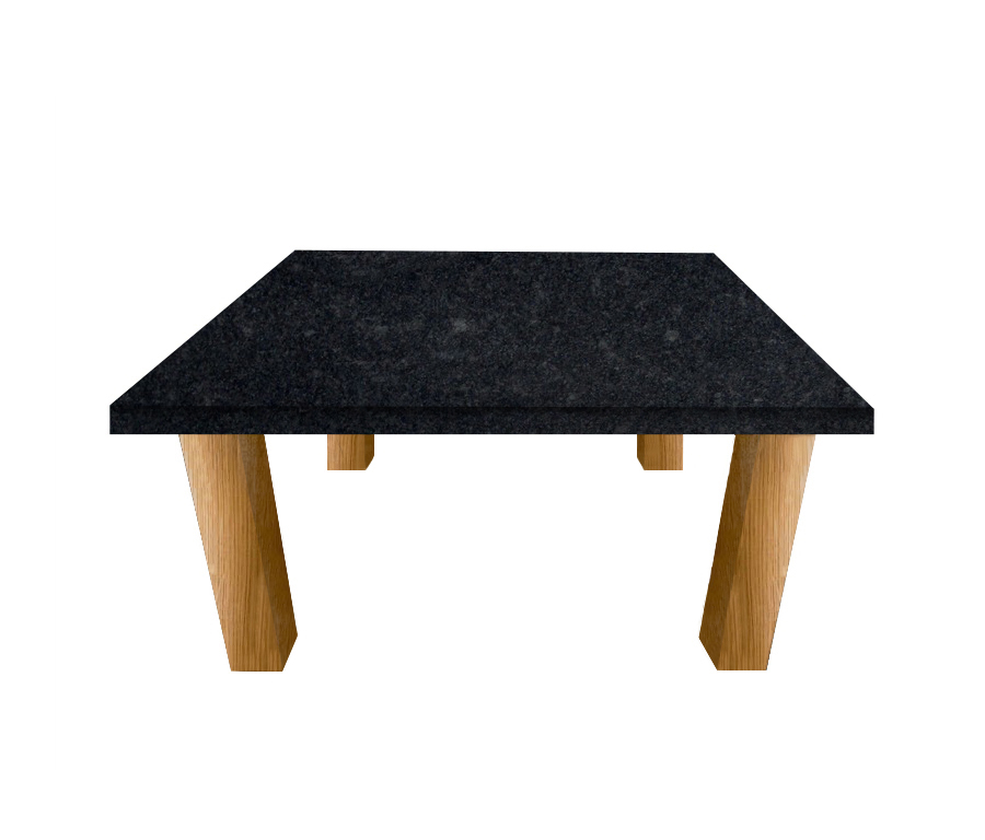 Steel Grey Square Coffee Table with Square Oak Legs
