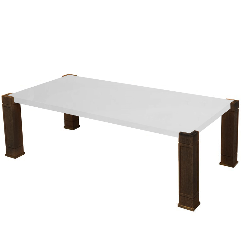 Faubourg Thassos Inlay Coffee Table with Walnut Legs