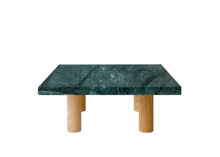 Verde Guatemala Square Coffee Table with Circular Oak Legs