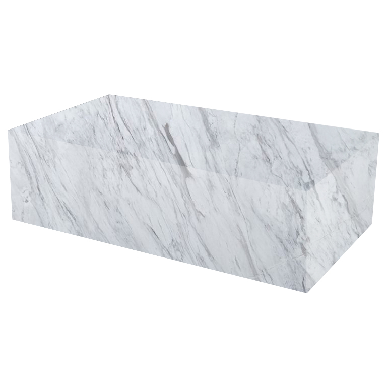 Volakas Rectangular Solid Marble Coffee Table