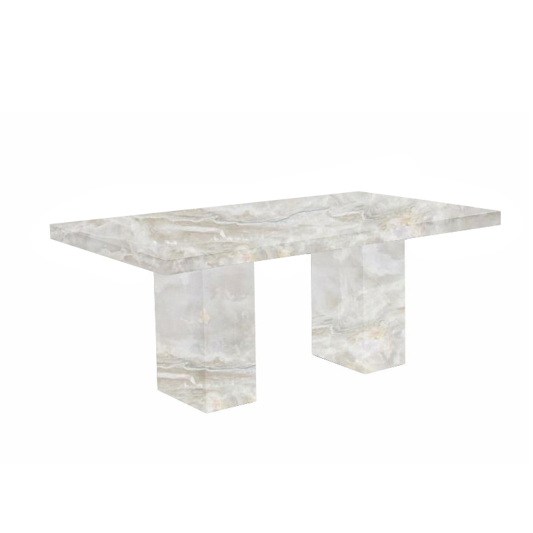 White Codena Onyx Dining Table