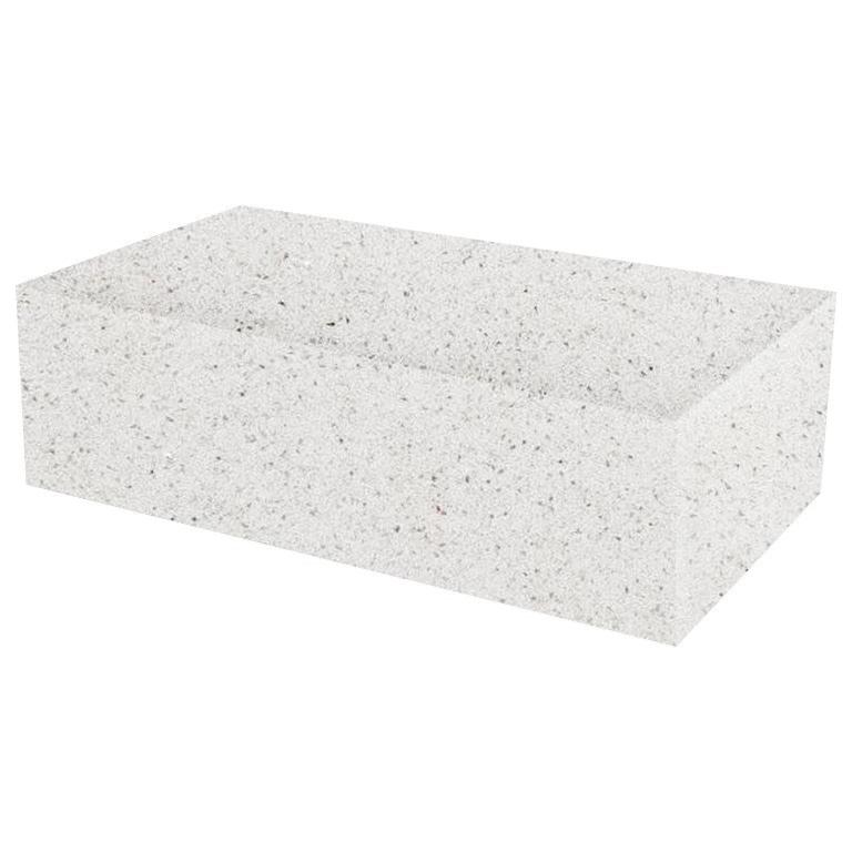 White Starlight Rectangular Solid Quartz Coffee Table