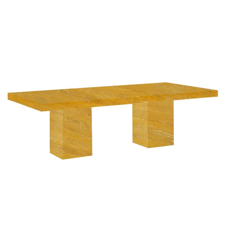 Yellow Bedizzano 10 Seater Travertine Dining Table