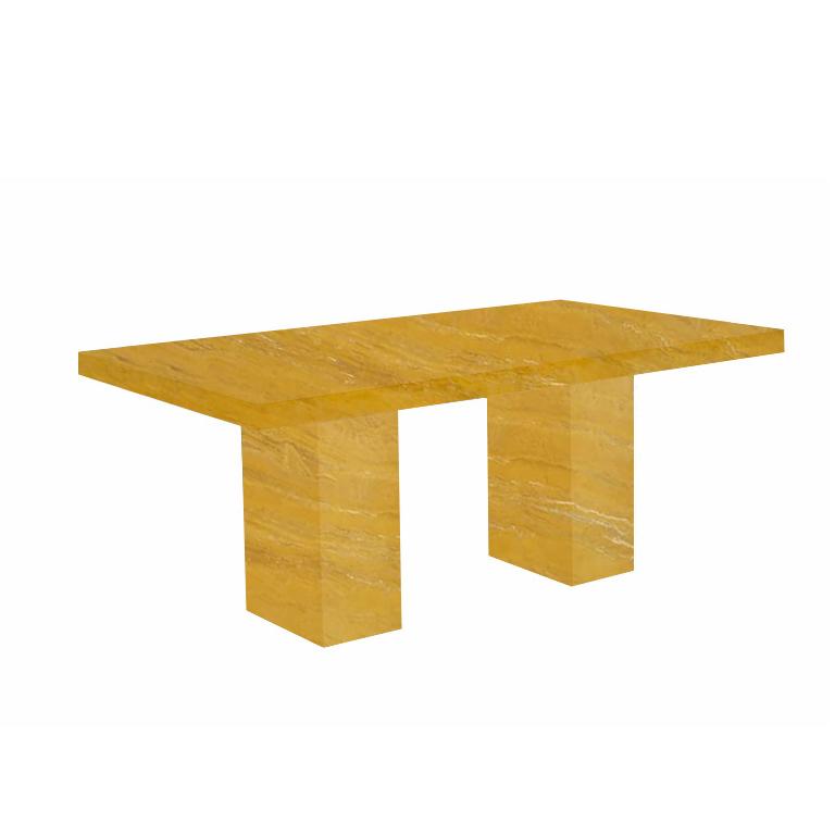 Yellow Codena Travertine Dining Table